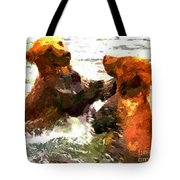 Colorful Bears Tote Bag