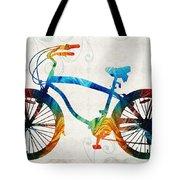 Colorful Bike Art - Free Spirit - By Sharon Cummings Tote Bag