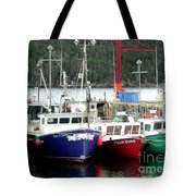 Colorful Boats Tied Up To The Wharf Tote Bag