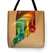 Colorful Bottle Shadows Tote Bag