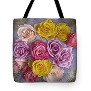 Colorful Bouquet Of Roses Tote Bag