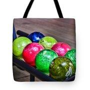 Colorful Bowling Balls Tote Bag