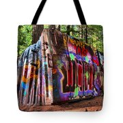 Colorful Box Car In The Forest Tote Bag
