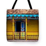 Colorful Building Tote Bag