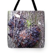 Colorful Wood Burl Tote Bag