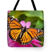 Orange Viceroy Butterfly Tote Bag