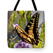 Colorful Butterfly Square Tote Bag