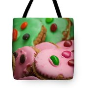 Colorful Candy Faces Tote Bag