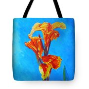 Colorful Canna Tote Bag