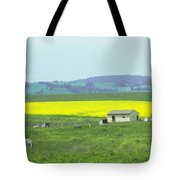 Colorful Canola Field Tote Bag