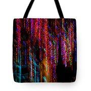 Colorful Christmas Streaks - Abstract Christmas Lights Series Tote Bag