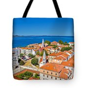 Colorful City Of Zadar Rooftops  Towers Tote Bag