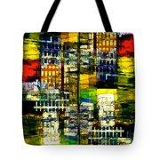 Colorful City Scene Tote Bag
