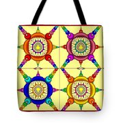 Colorful Collage Of Fractals Tote Bag
