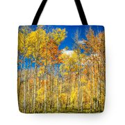 Colorful Colorado Autumn Aspen Trees Tote Bag