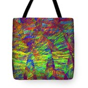 Colorful Computer Generated Abstract Fractal Flame Tote Bag