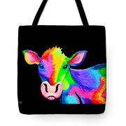 Colorful Cow-cow-a-bunga Tote Bag by Nick Gustafson