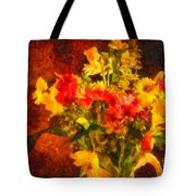 Colorful Cut Flowers - V2 Tote Bag