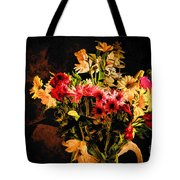 Colorful Cut Flowers - V3 Tote Bag