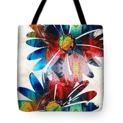 Colorful Daisy Art - Hip Daisies - By Sharon Cummings Tote Bag