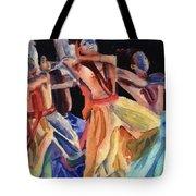 Colorful Dancers Tote Bag