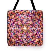 Colorful Digital Abstract Tote Bag