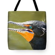 Colorful Double-crested Cormorant Tote Bag