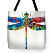 Colorful Dragonfly Art By Sharon Cummings Tote Bag