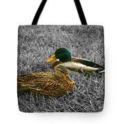 Colorful Ducks Tote Bag