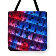 Colorful Elevation Of Modern Building Tote Bag