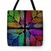 Colorful Feather Fern - 4 X 4 - Abstract - Fractal Art - Square Tote Bag