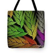 Colorful Feather Fern - Abstract - Fractal Art - Square - 1 Tl Tote Bag