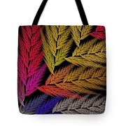 Colorful Feather Fern - Abstract - Fractal Art - Square - 2 Tr Tote Bag