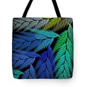 Colorful Feather Fern - Abstract - Fractal Art - Square - 3 Ll Tote Bag