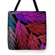 Colorful Feather Fern - Abstract - Fractal Art - Square - 4 Lr Tote Bag