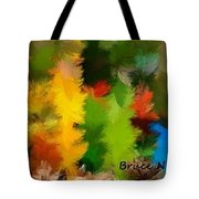 Colorful Feathers Tote Bag