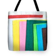 Colorful Felt Tote Bag