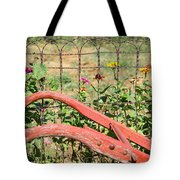 Colorful Fence Row Tote Bag