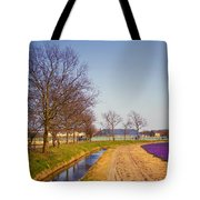 Colorful Fields Of Holland Tote Bag