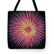 Colorful Fireworks Tote Bag