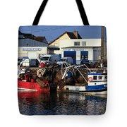 Colorful Fishing Boats Tote Bag