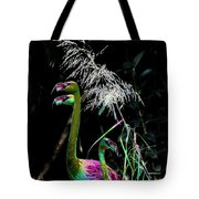 Colorful Flamingos Tote Bag