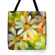 Colorful Floral Abstract I Tote Bag
