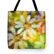Colorful Floral Abstract II Tote Bag