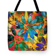 Colorful Floral Abstract IIi Tote Bag