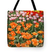 Colorful Flower Bed Tote Bag