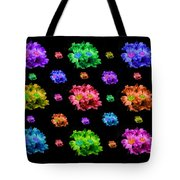 Colorful Flowers Duvet Tote Bag