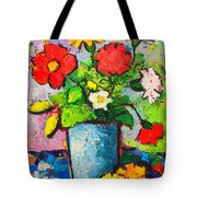 Colorful Flowers From My Garden Tote Bag