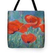 Colorful Flowers Red Poppies Beautiful Floral Art Tote Bag