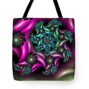 Colorful Fractal Tote Bag